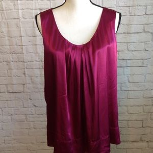 Tops - New York & Co. Silky Fuchsia Top XL